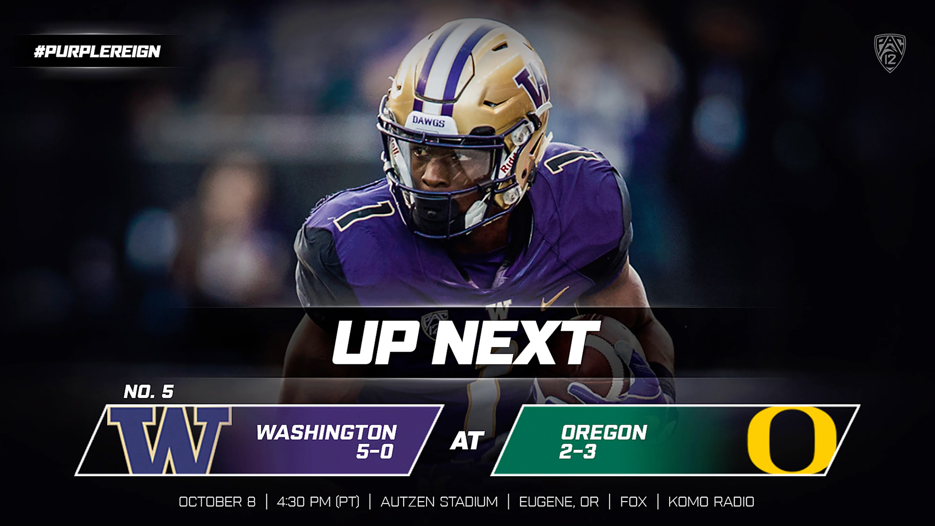 d44497ed7 No. 5 Dawgs Head South To Face Oregon - University of Washington ...