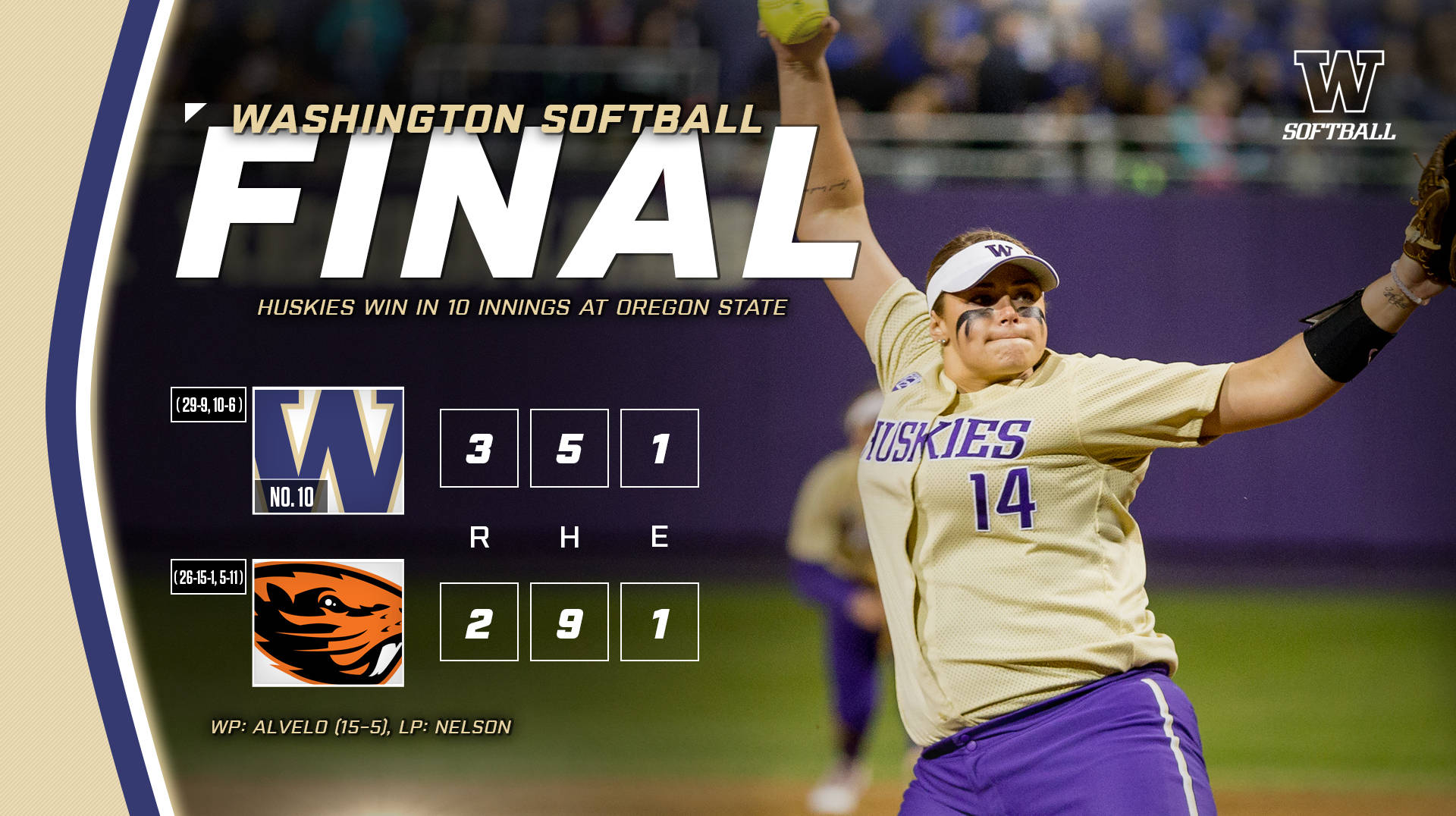 Huskies Outlast Oregon State In Extras To Win Series Opener
