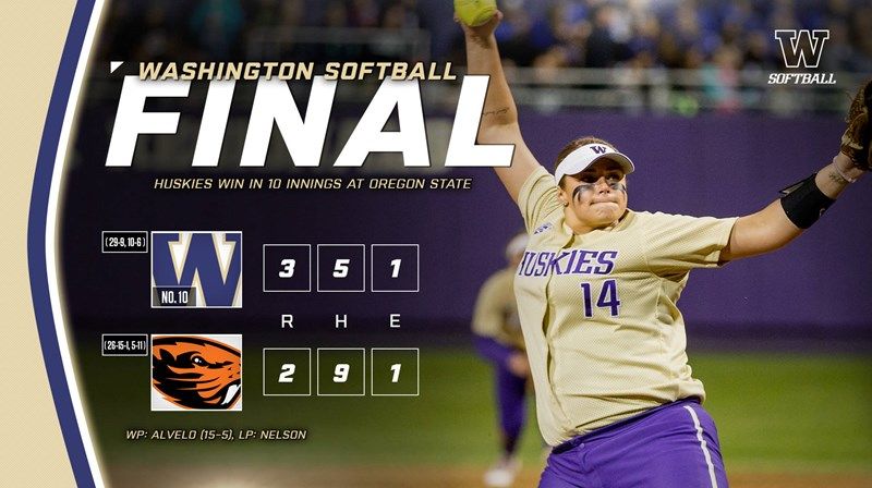 Huskies Outlast Oregon State In Extras To Win Series Opener - University of Washington Athletics