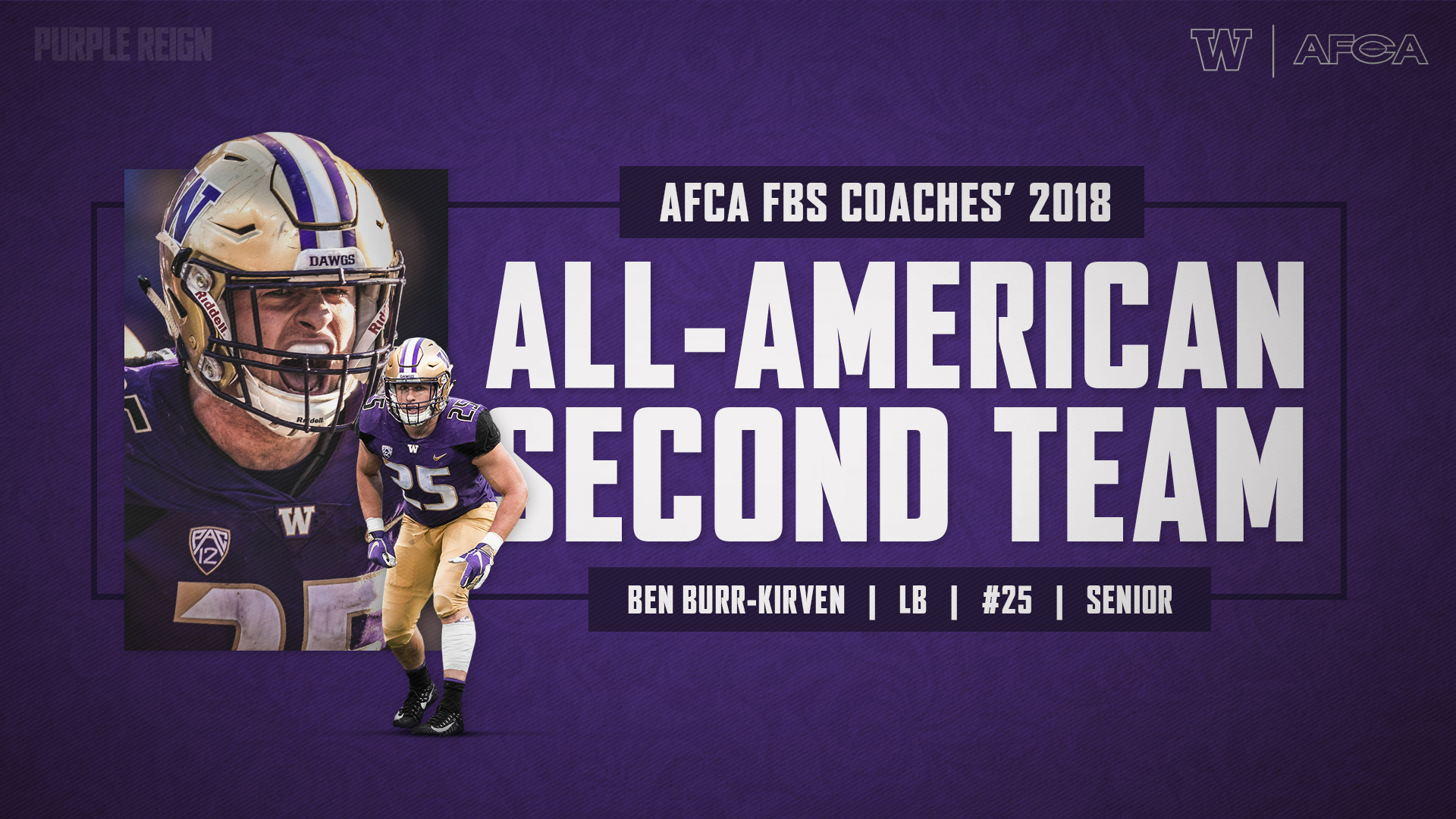 factory price 428ff d163b Burr-Kirven Named To AFCA All-America Second Team ...