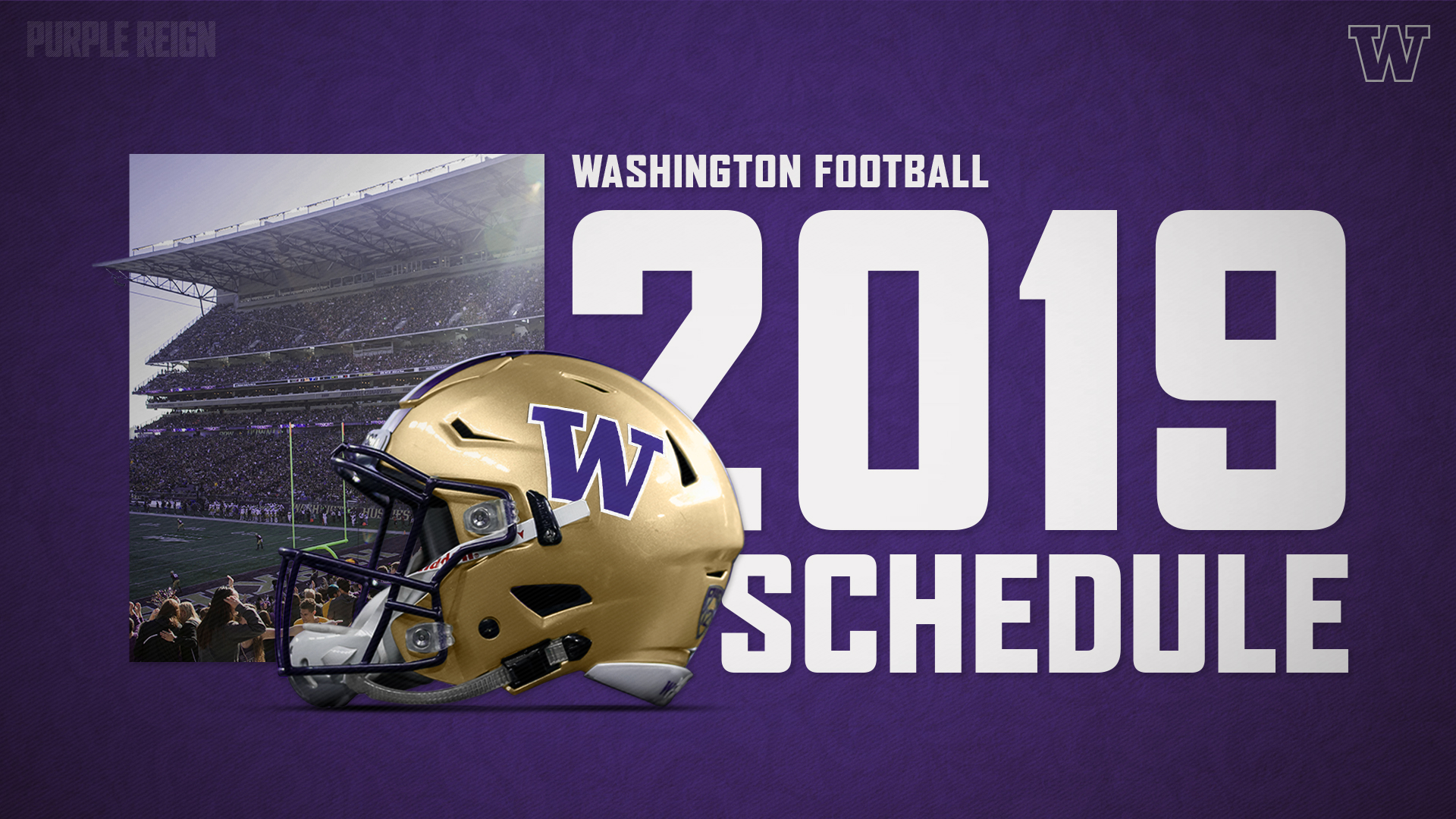 picture about Printable College Football Schedules known as 2019 Husky Soccer Agenda Introduced - College or university of